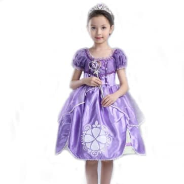 Sofia the First Deluxe Costume Dress For Girls