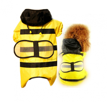 Dog Rain Jacket Bee Costume