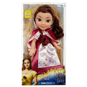 Disney Beauty and The Beast Belle Red Dress Doll with Cape