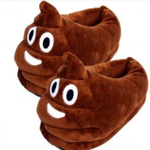 Poop Emoji Emoticon Big Comfy Slippers