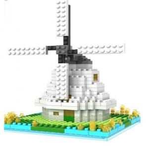 Loz Nano Block Architecture Series Windmill of Amsterdam