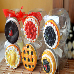 Cute Pie Top Candy Mason Jar 650ml 22oz