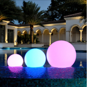 LED Color Changing Waterproof Cordless Outdoor Light Ball 20cm 8""