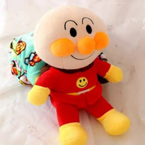 Anpanman Plush Doll Blanket Combo 35cm (14 inches) Doll With 1.5m (5 feet) Blanket