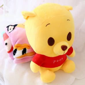 Winnie the Pooh Plush Doll Blanket Combo 35cm (14 inches) Doll With 1.5m (5 feet) Blanket
