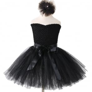 Celina Black Tutu Evening Wedding Party Dress