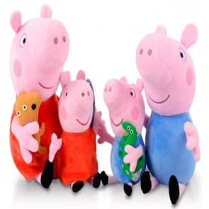 Peppa Pig Plush Family Collection 4 Total Plush Toys