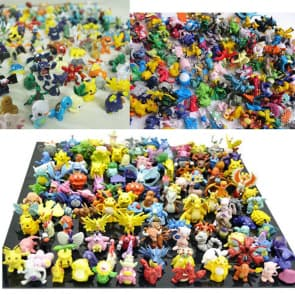 Complete Pokemon Collection Plastic Model 168 Characters (2-5 cm, 1-1.75 inches)