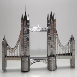 DIY 3D Stainless Steel Metal Puzzle Laser Cut-London Tower Bridge