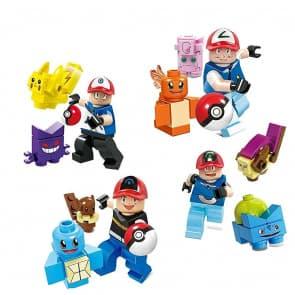 4 Set Pokemon Go Mini Figures Building Blocks Toys