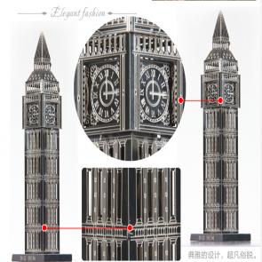DIY 3D Stainless Steel Metal Puzzle Laser Cut-London Big Ben