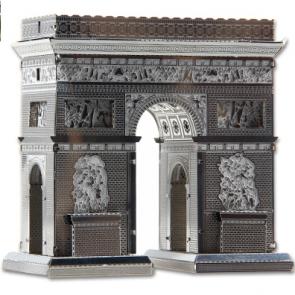 DIY 3D Stainless Steel Metal Puzzle Laser Cut-Paris Arc de Triomphe