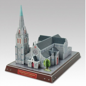 Cubic Fun 3D Model Puzzle-ChristChurch Cathedral